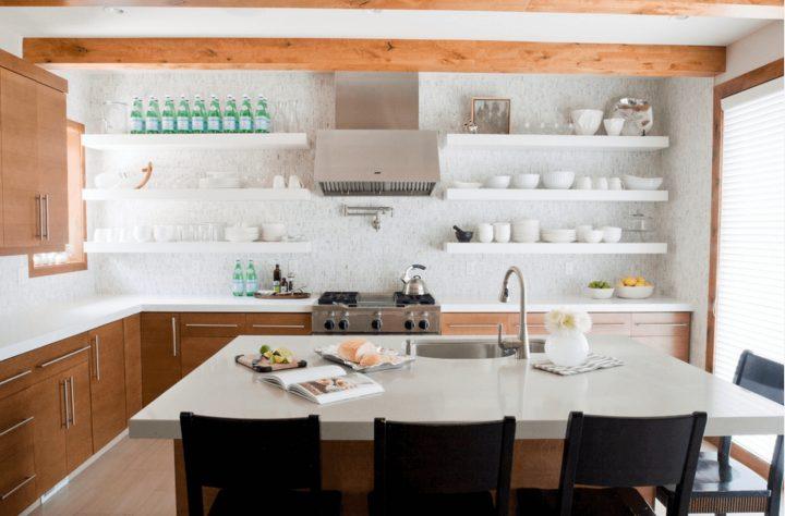 Open Shelves versus Wall Cabinets
