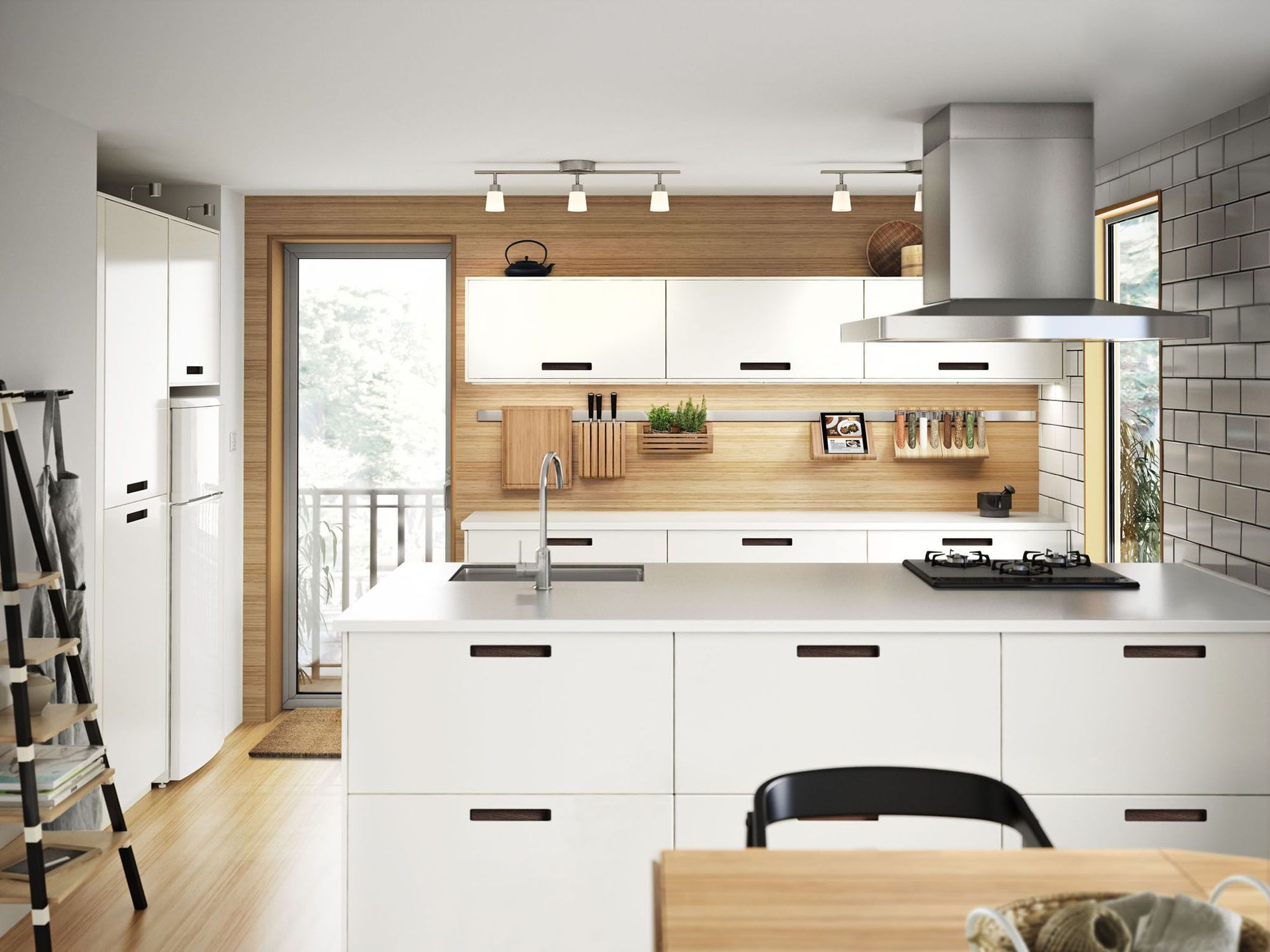 IKEA kitchen islands: a practical desk area