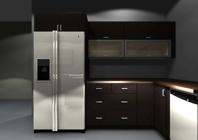 dark ikea kitchen cabinets