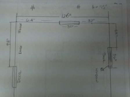 Kitchen dimensions.