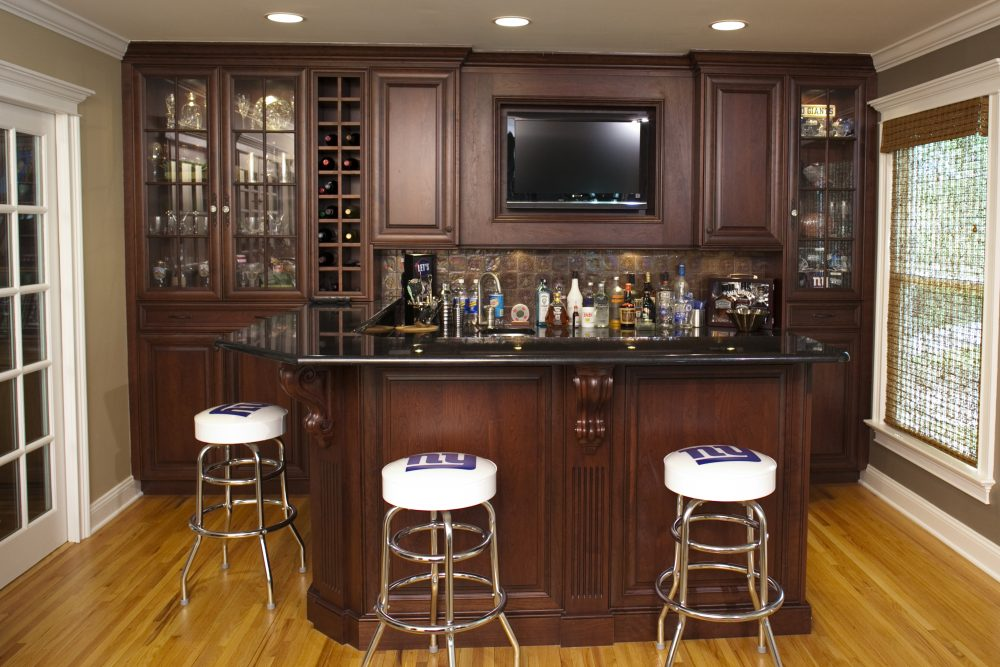 A Six Feet Bar Area With Ikea Kitchen Cabinets