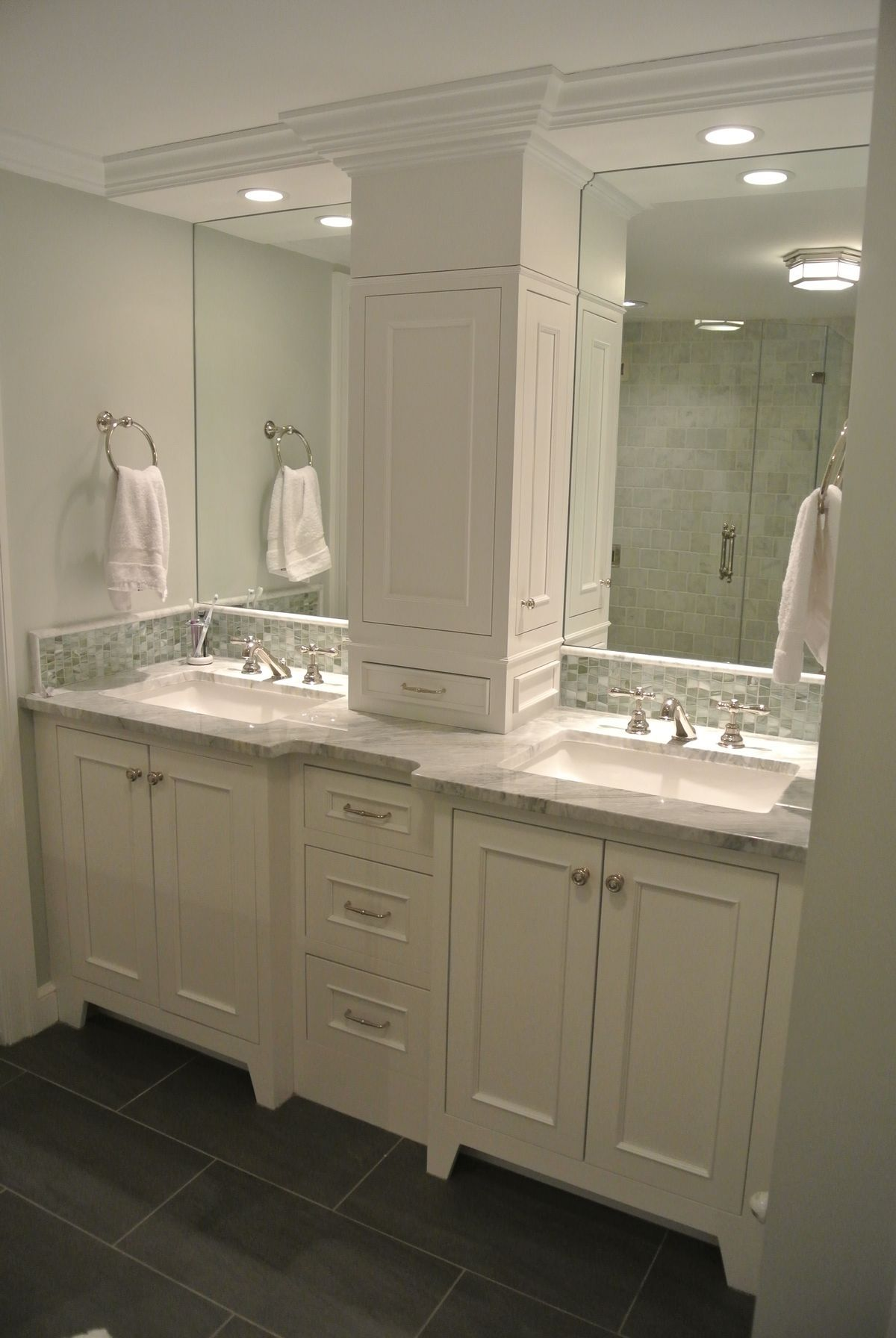 Ikea Bathroom Vanities A Linen Closet On The Countertop