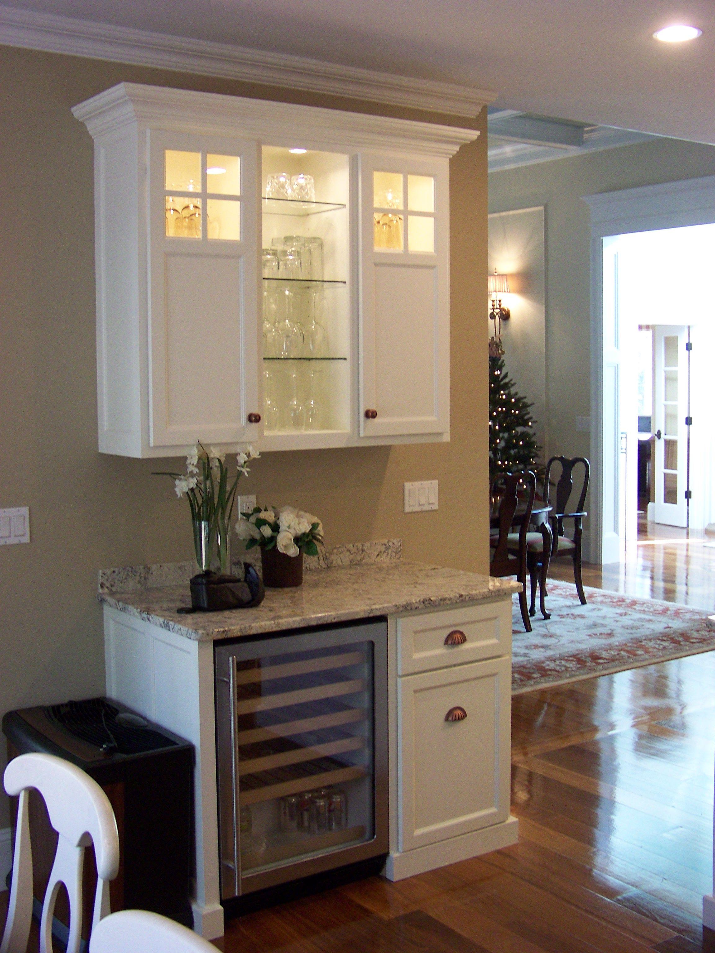 kitchen design ideas a beverage station using a wine