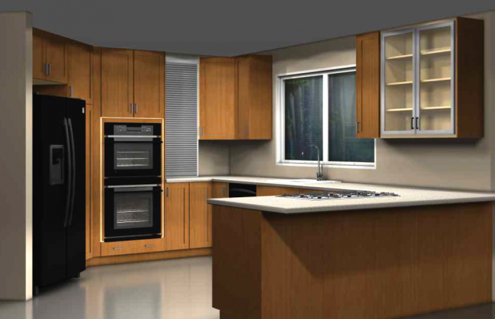 Using IKEA ADEL doors to update a traditional kitchen