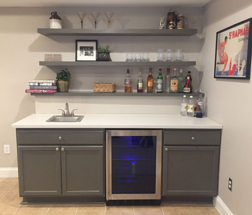 Kitchen Design Ideas: A Bar Area With IKEA Cabinets