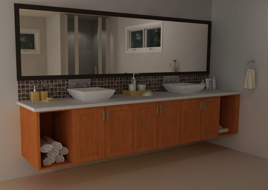 ikea bathroom cabinets with wall mirror | IKEA vanities: transitional versus modern - IKD