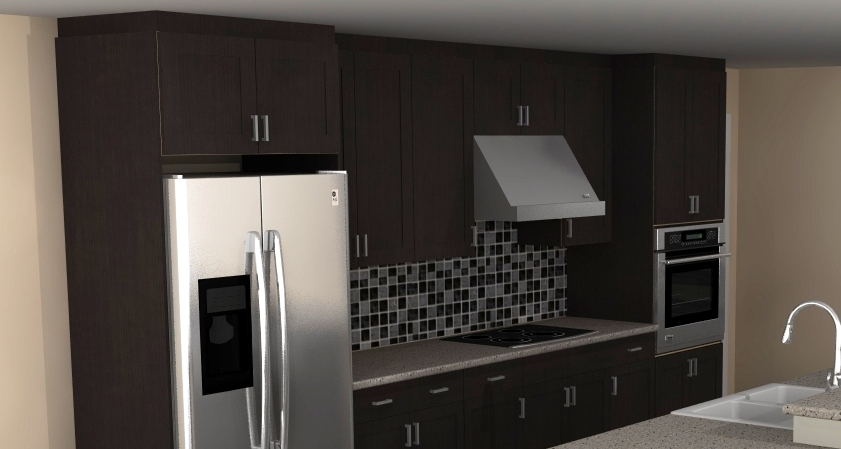 Ramsjo Black Brown Cabinets