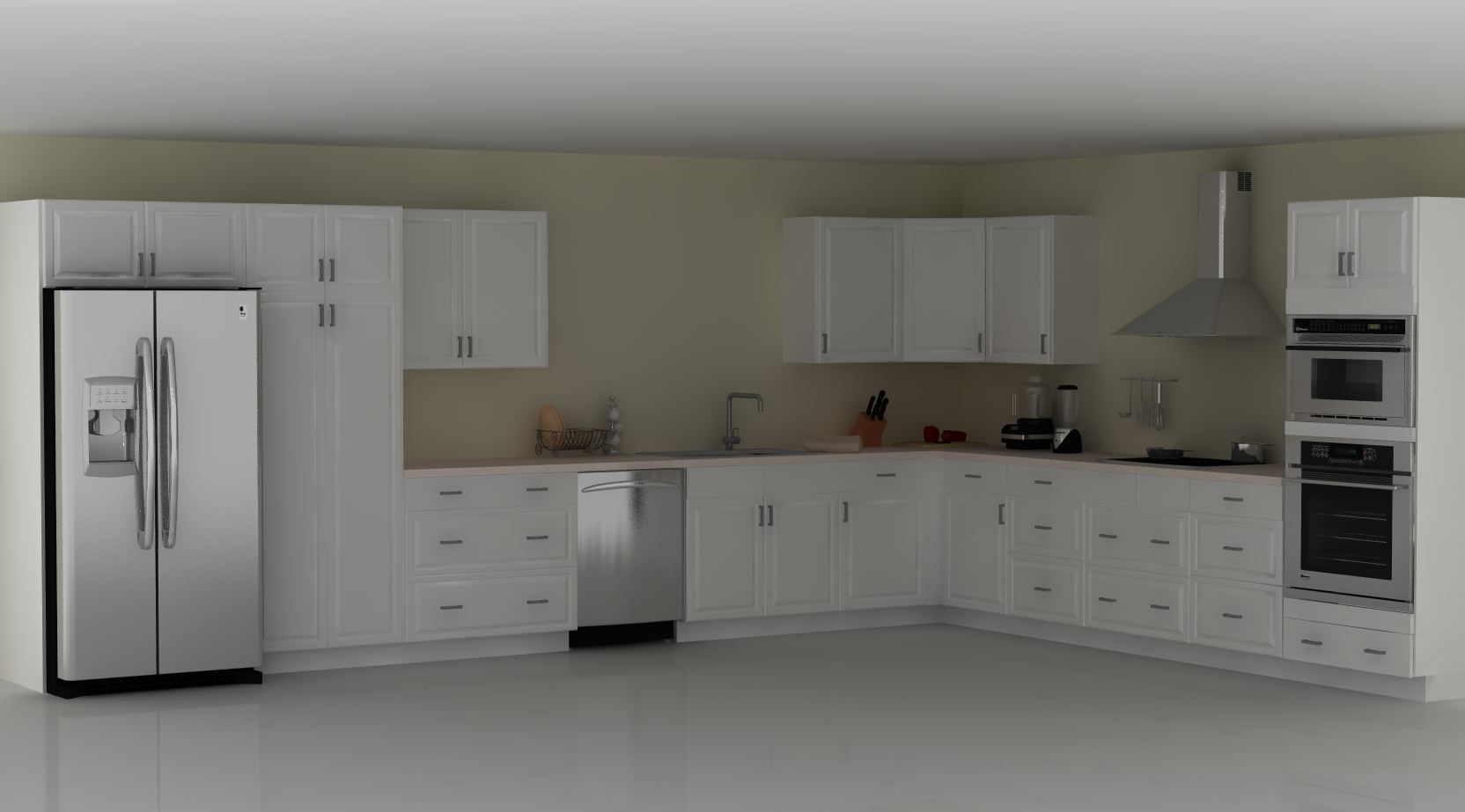 L Shaped Ikea Kitchen An