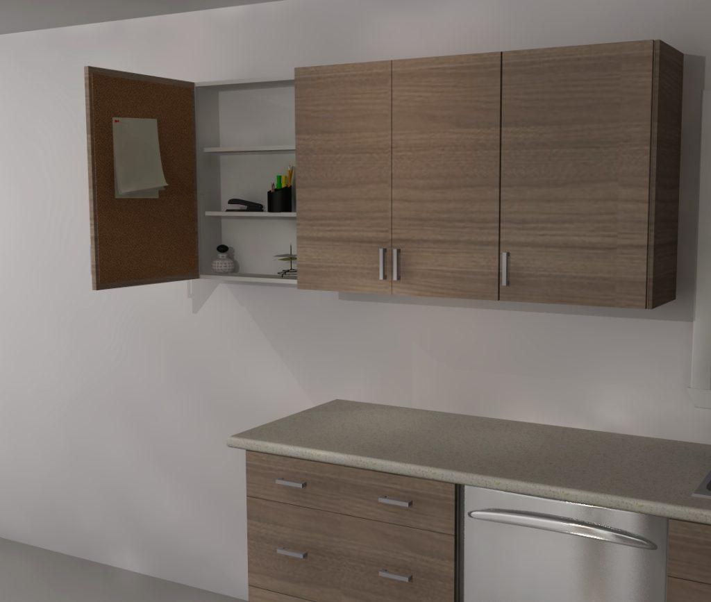 IKEA Custom Cabinets: A Message Center