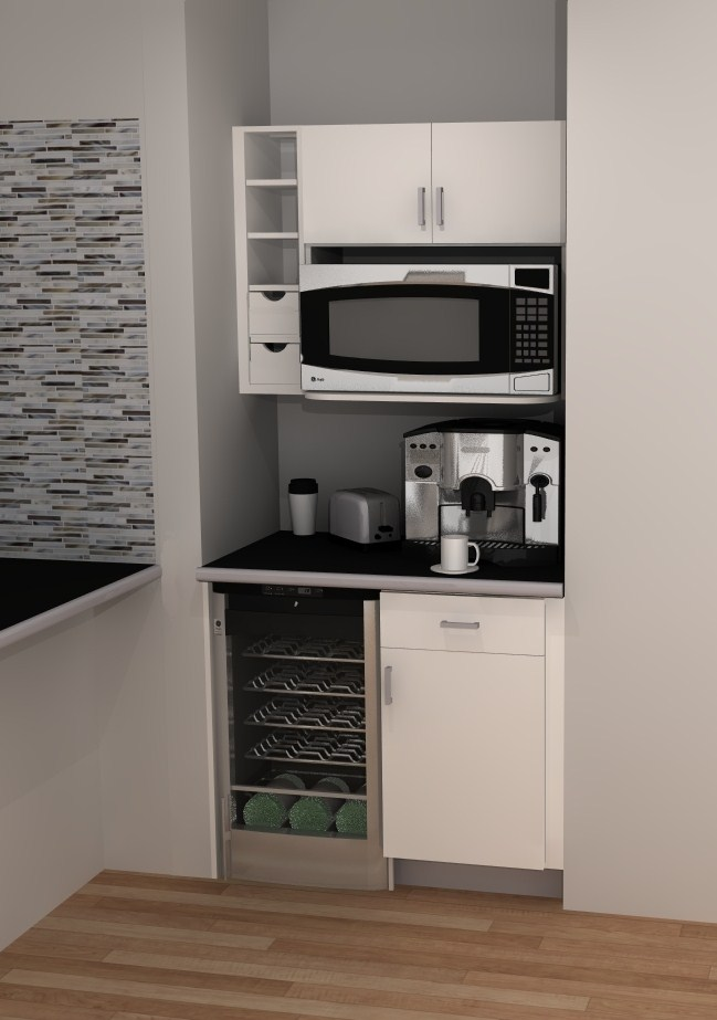 useful spaces an ikea coffee bar. Black Bedroom Furniture Sets. Home Design Ideas