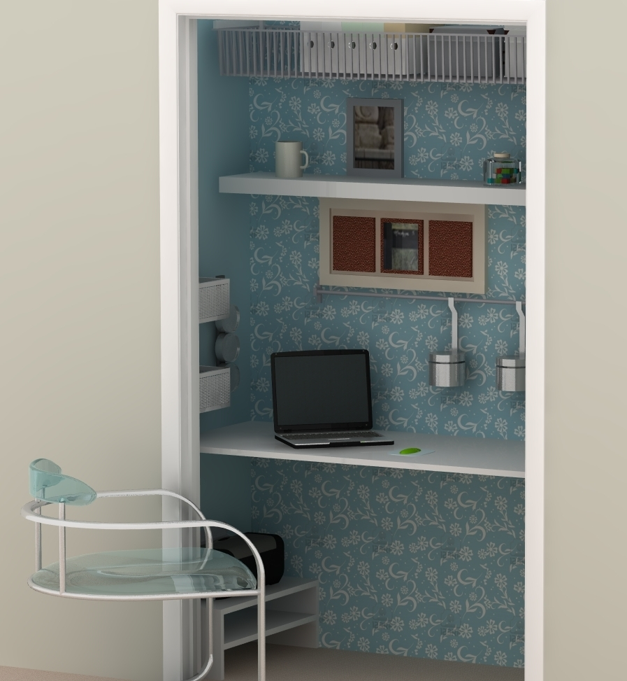 budget solutions an ikea home office tucked in a closet