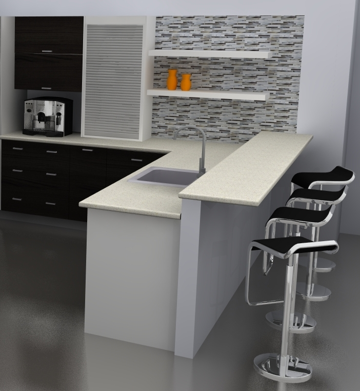 """An """"open Kitchen Design"""" Done With IKEA Cabinets"""