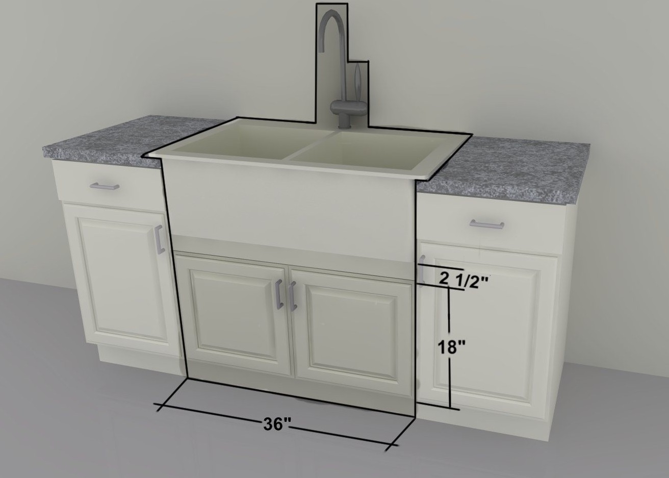 IKEA Custom Cabinets: 36u2033 Farm Sink Or Gas Cooktop Units
