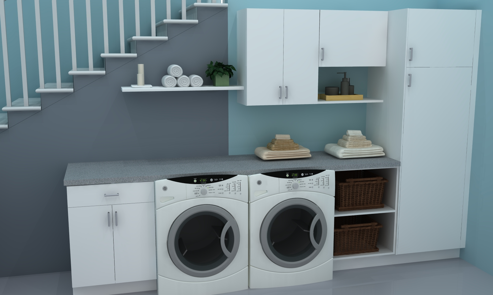 useful spaces: a practical ikea laundry room
