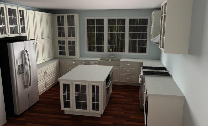Cottage white IKEA kitchen in Australia