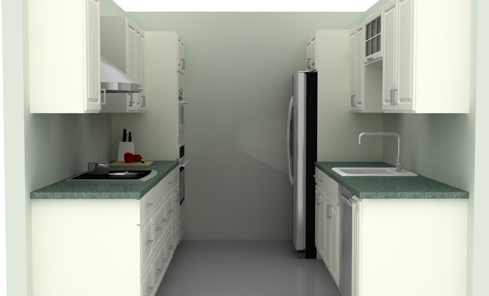 Ikea kitchen layouts pros and cons of a galley kitchen - Small kitchens ikea ...