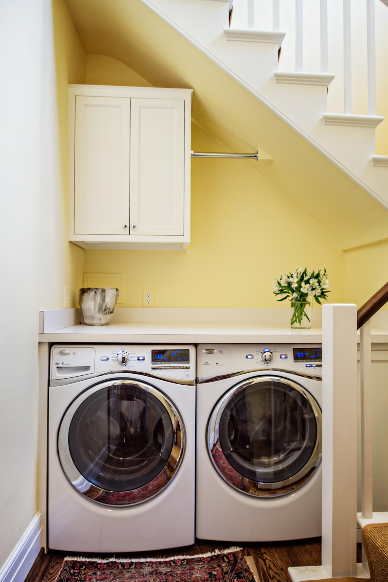 Small Spaces An Ikea Laundry Room Under The Stairs