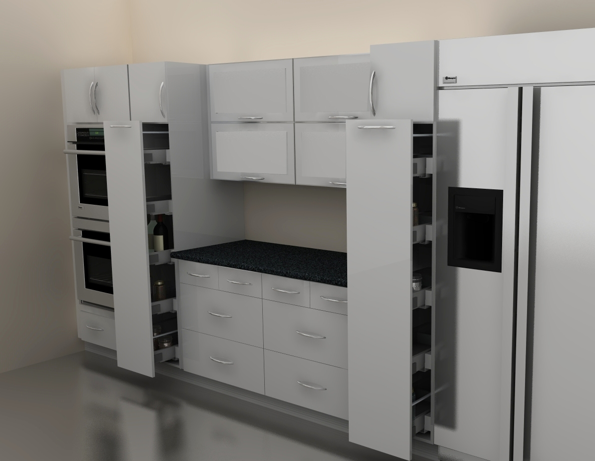 Kitchen pantry cabinet ikea - Combination Of Different Cabinet Sizes Makes This Pantry Especially