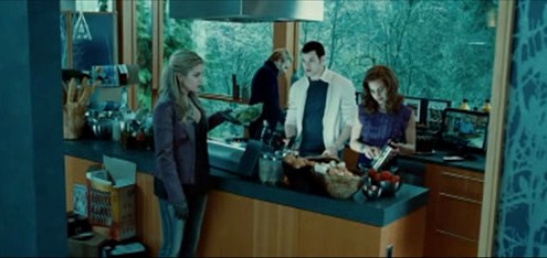The Cullens are cooking for their new guest at the famous Twilight kitchen.