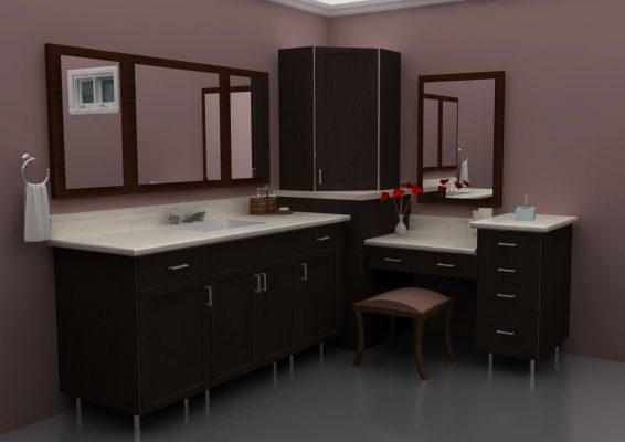 Here's an IKEA makeup bathroom vanity that lives large.