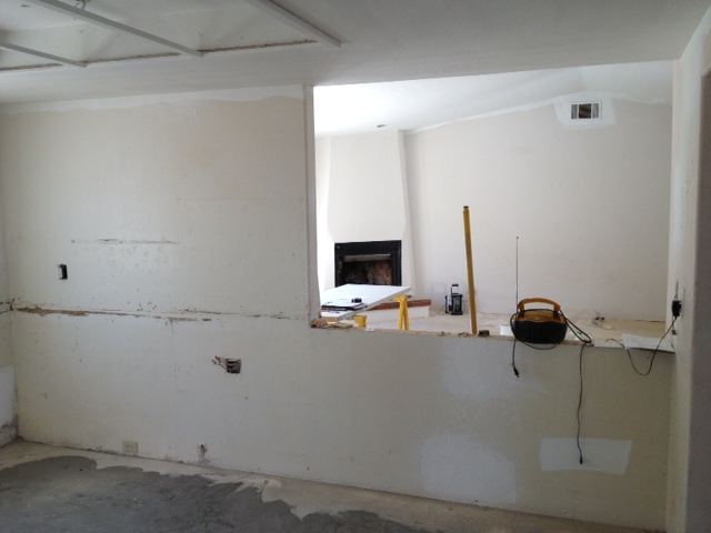 This is the half wall that connects to the living room and dining area.