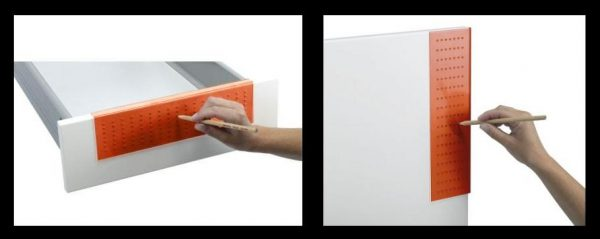 The FIXA drill template can be used on both drawers and doors.