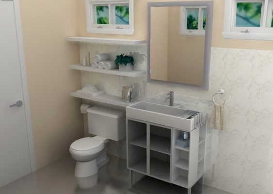 A Light Compact Bathroom For Less Than, Ikea Bathroom Sink Cabinet Reviews