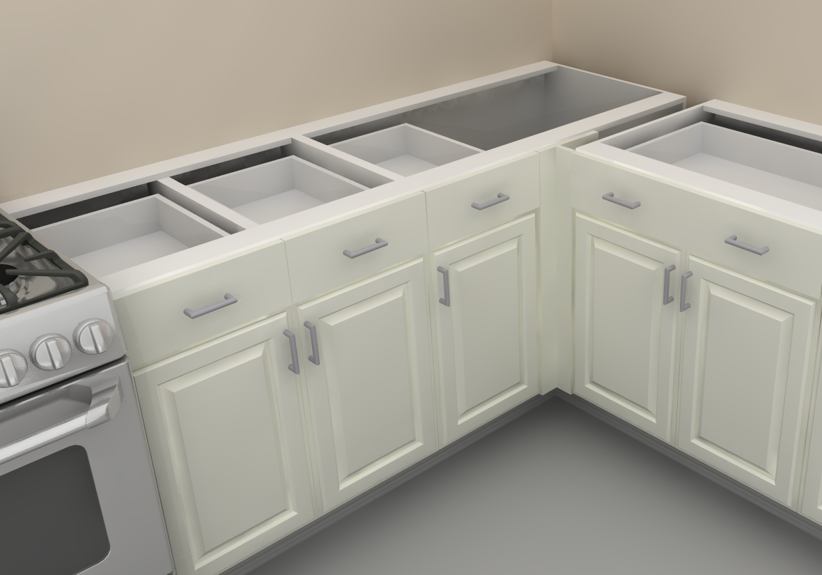 Blind corner ikea cabinet for Inspired kitchen design