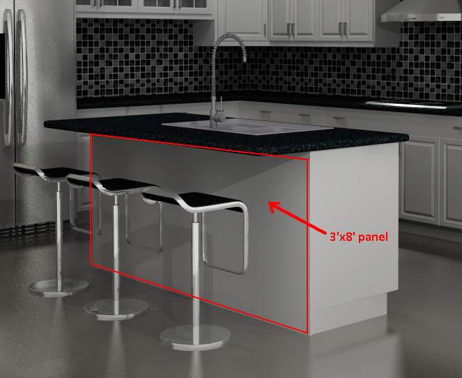 Kitchen Island Bak Panels