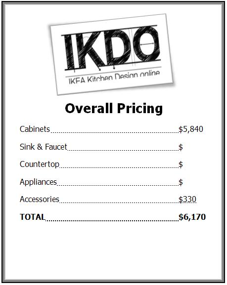 price list ikea kitchen