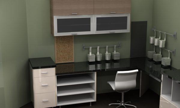 Home office craftroom craft room IKEA ABSTRAKT cabinets