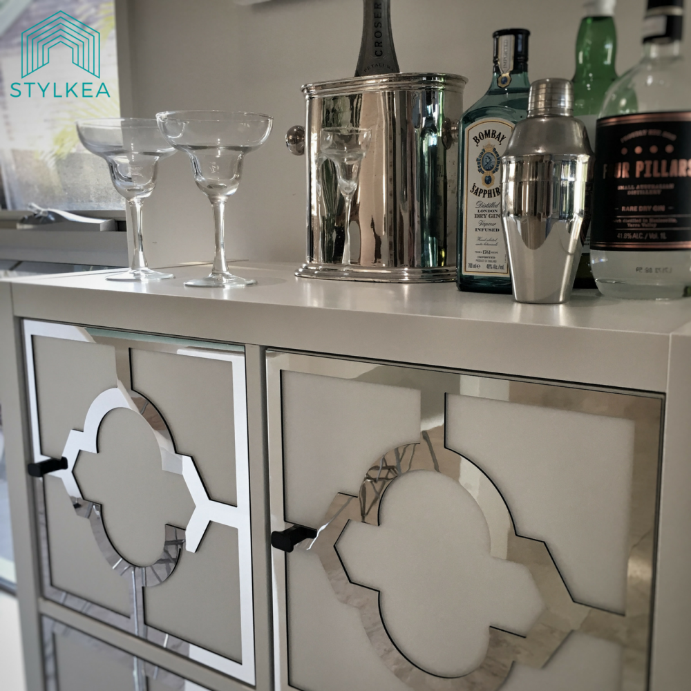 Ikea Kitchen Hacks So Your Kitchen Doesn T Look Like: A Stylish IKEA Home Bar For A Custom Look