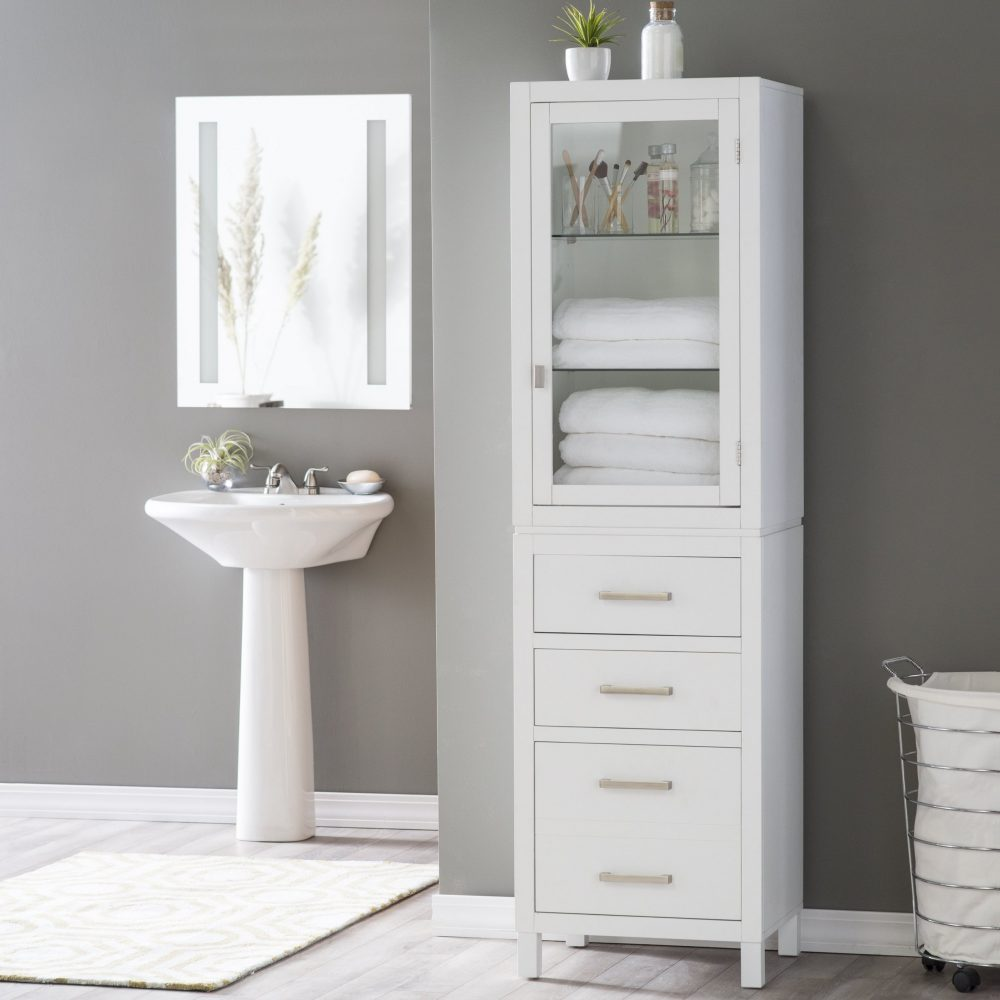 A practical IKEA linen closet for your master bathroom