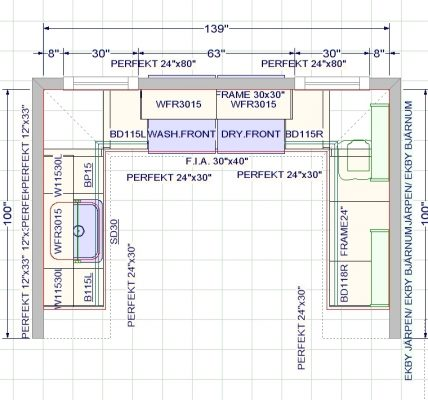 These are the overall room dimensions.
