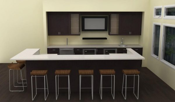 The new IKEA home bar provides space for up to 7 guests! What a big difference!