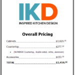 price list for ikea kitchen with countertop and cabinets