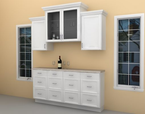This IKEA home bar is slim and it can fit in narrow spaces.