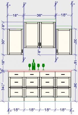 ikea home bar dimensions