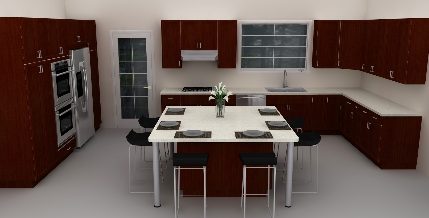 large ikea kitchen island can also be turned into a dining room table