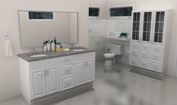 For this gorgeous master bathroom, we used LIDINGO door fronts.