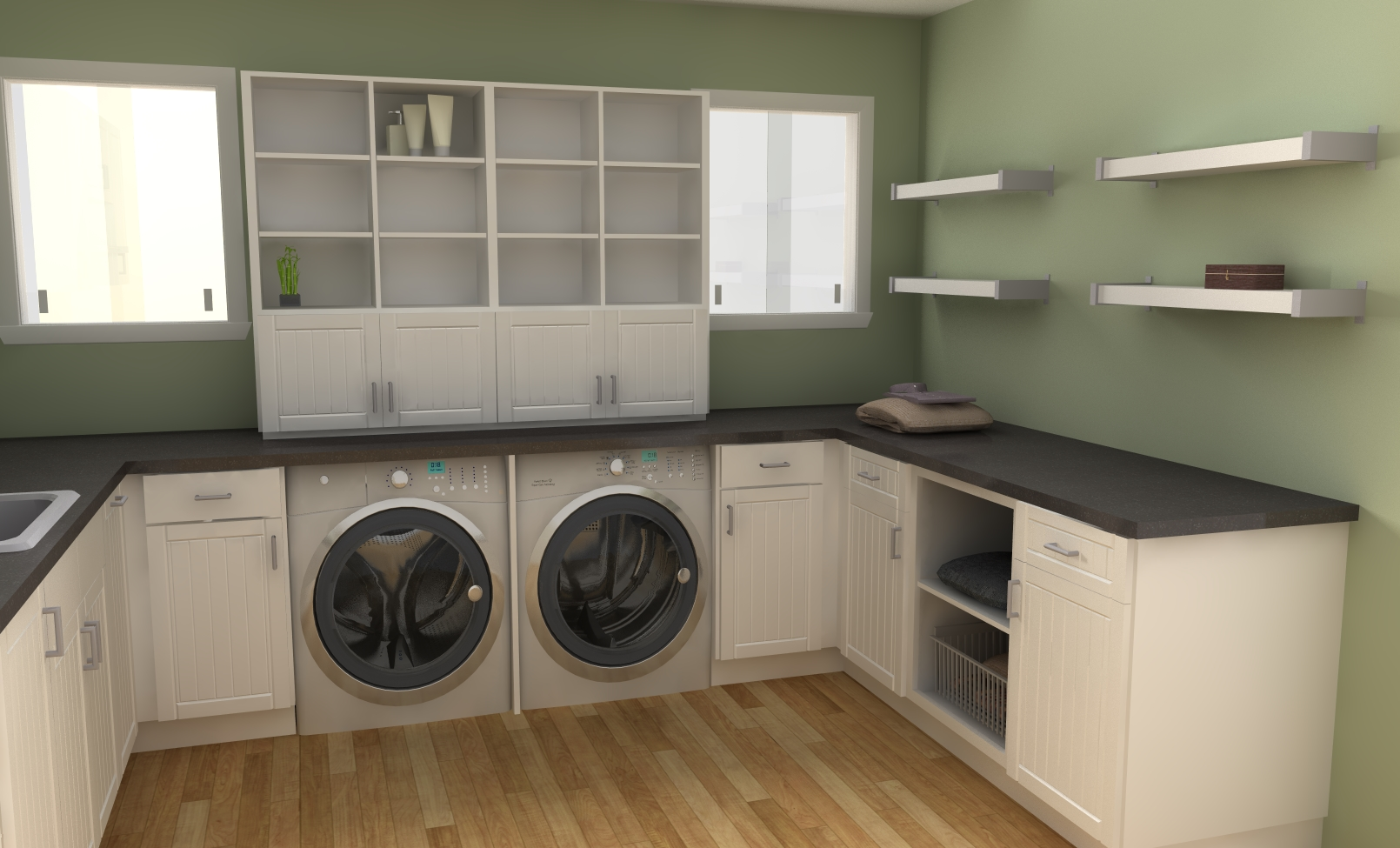 Ikea laundry room ideas for Open laundry room ideas