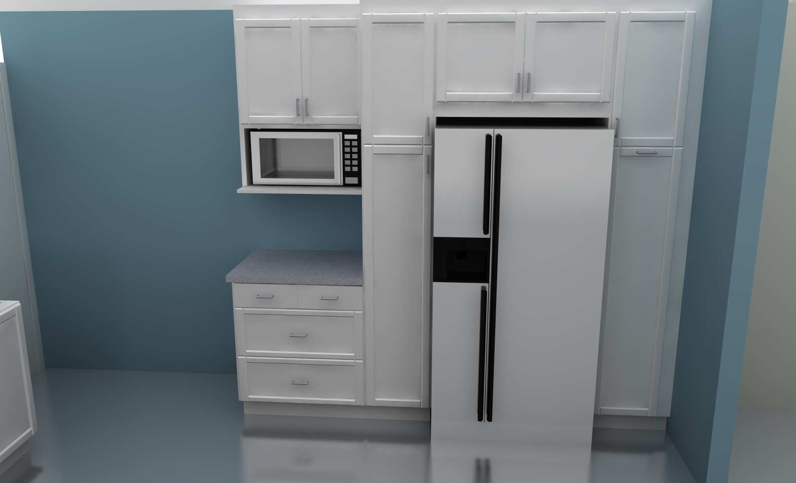 fridge ikea corner tall cabinet
