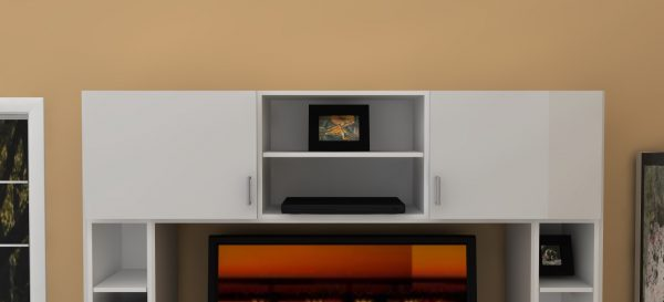 Store movies, CD's and your DVD player at the top of this IKEA entertainment center.