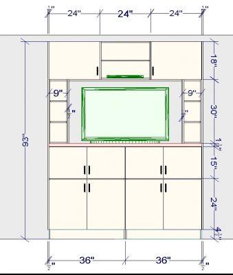 ikea entertainment center measurements