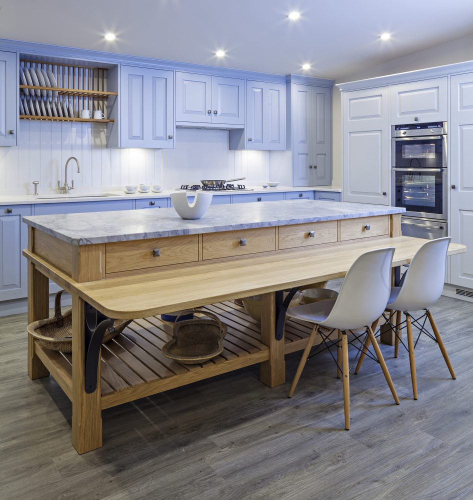 get more counter space with this clever ikea kitchen island