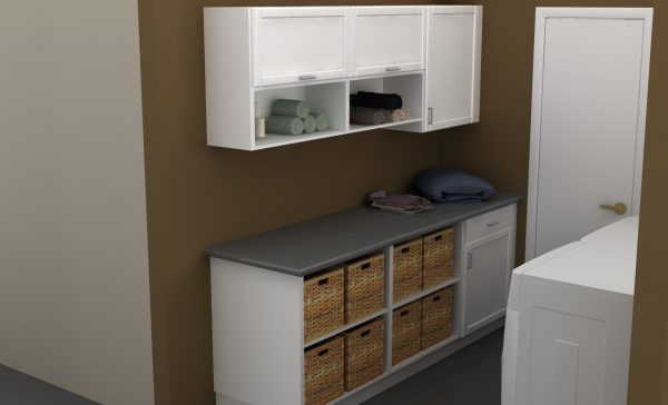 This IKEA laundry room is small but it packs a lot of storage.