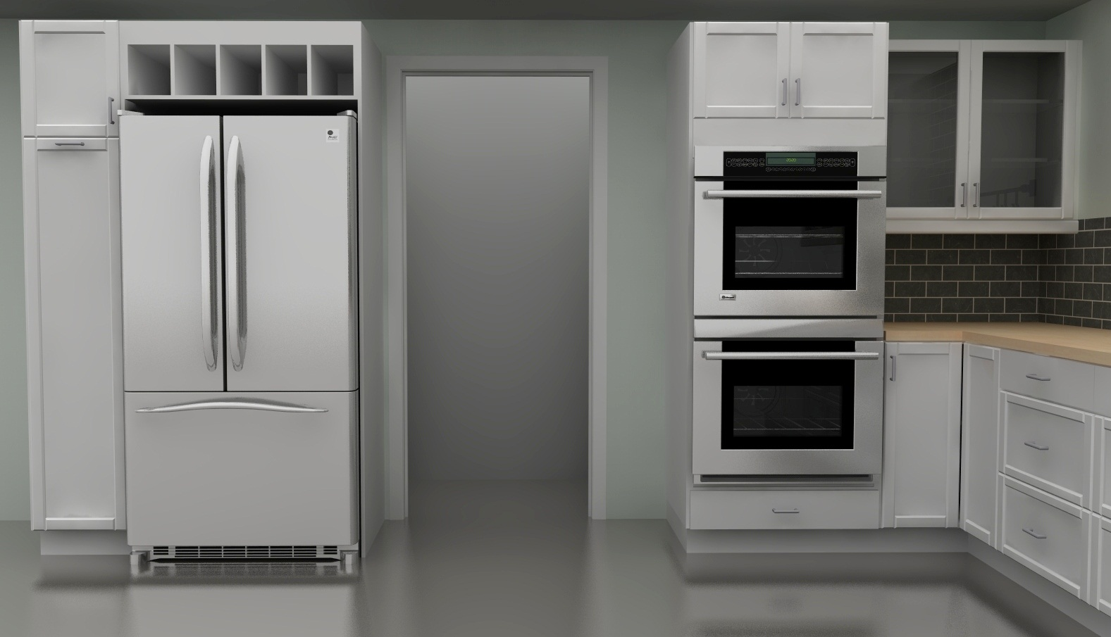 Wall Cabinets With Double Oven
