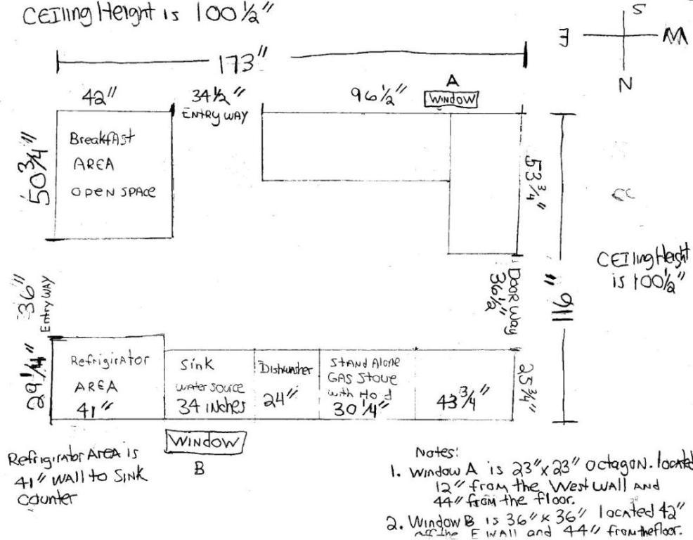 We don't need complicated architectural drawings to get started with your design. A clean hand-drawn sketch will do.