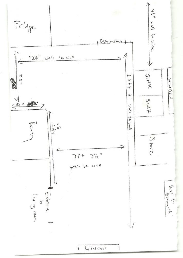 A sketch of the kitchen is a good start for our design team at IKDO.