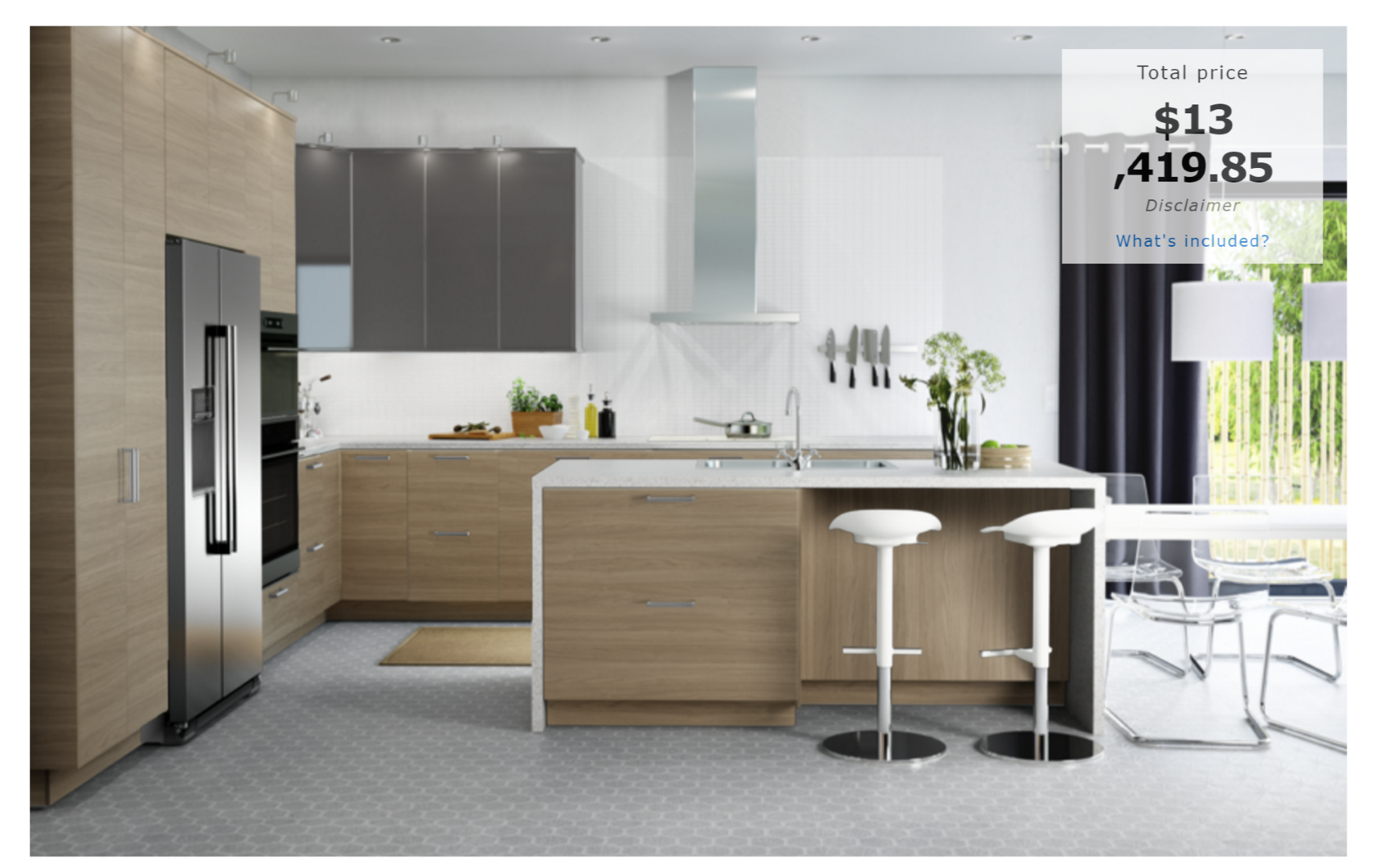 How much will an ikea kitchen cost for Average cost ikea kitchen cabinets